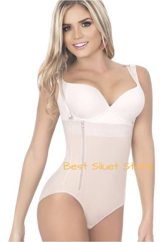 210b0f97f1 Uplady Faja Colombiana 6103 Body Strapless Powernet Levanta Cola para Mujer  New  Uplady  BodySuits