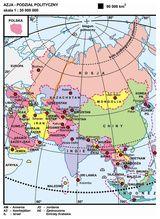 26. Azja – podział polityczny