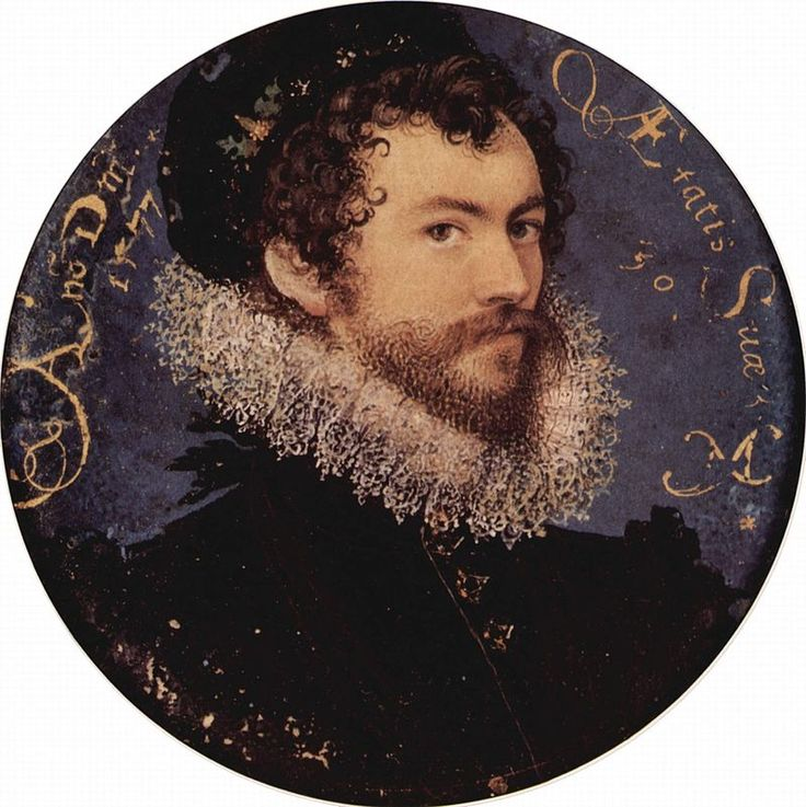 Nicholas Hilliard, self-portrait miniature, 1577