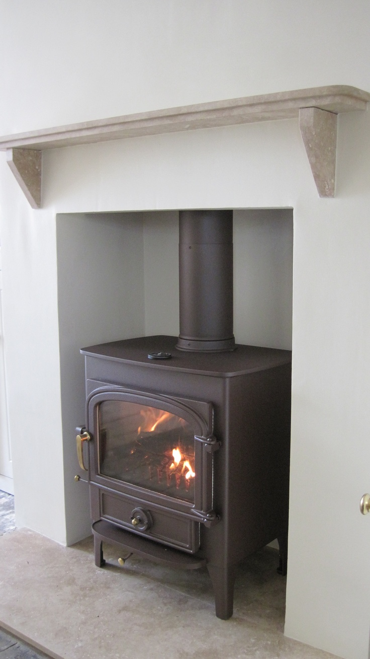 Clearview Vision 500 Wood Burner In Mahogany Brown And