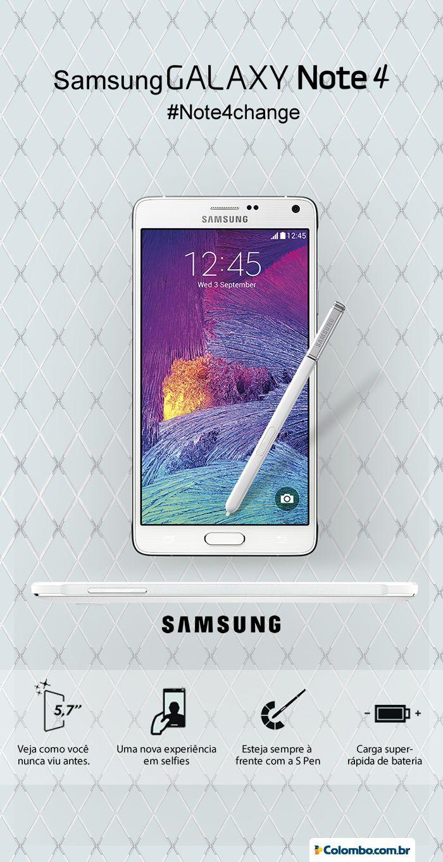 Notebook samsung lojas colombo - O Novo Galaxy Note 4 J Chegou Na Lojas Colombo Ganhe A Melhor Experi Ncia Visual