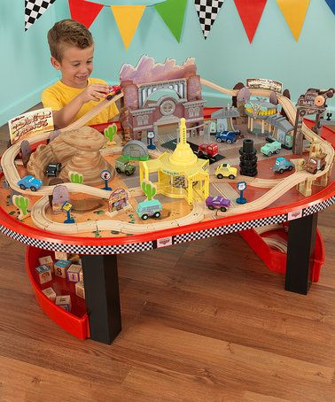 Look what I found on #zulily! Cars Radiator Springs Race Track Table Set #zulilyfinds