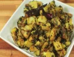 Aloo Methi is a delicious dish made with potatoes, fenugreek leaves, and a combination of spices. Fenugreek is a green leafy vegetable with a unique taste that is packed with nutrients. There are many health benefits of fenugreek. This dish is delicious in addition to being healthy!