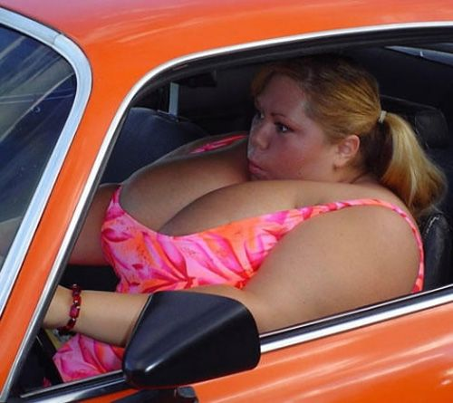 Whew! She has her own air bags!