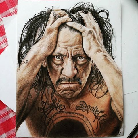 Just finished and proudly present a 21x27 cm #color #drawing of a legend and a great man Danny Trejo. Machete is one of my favorite movie characters of all time. @officialdannytrejo   Please tag him,  so he would notice a fan ;) #machete #artoftheday #artist #art #machetemonday #pencil #photorealism #realistic_arts #realistic #realism #tattoo #ink #portrait #dannytrejo #instaart #spotlightonartists @arts_promo @arts_realistic #fanart
