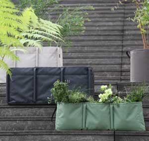 Jardinière en tissu carré ou rect. (Batyline - 3 coloris) Bacsac