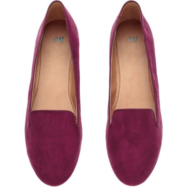 H&M Loafers found on Polyvore featuring shoes, loafers, flats, flat heel shoes, h&m, flat pumps, loafers flats and h&m flats