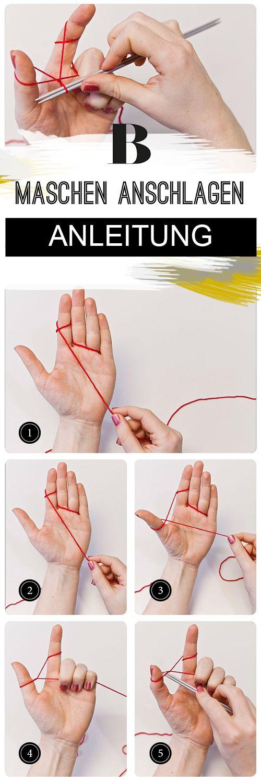 Maschen anschlagen - Schritt für Schritt erklärt. Das Stricken beginnt immer mit dem Anschlagen von Maschen. Wir zeigen euch, wie ihr Schritt für Schritt Maschen anschlagt und den Faden beim Stricken richtig halten.