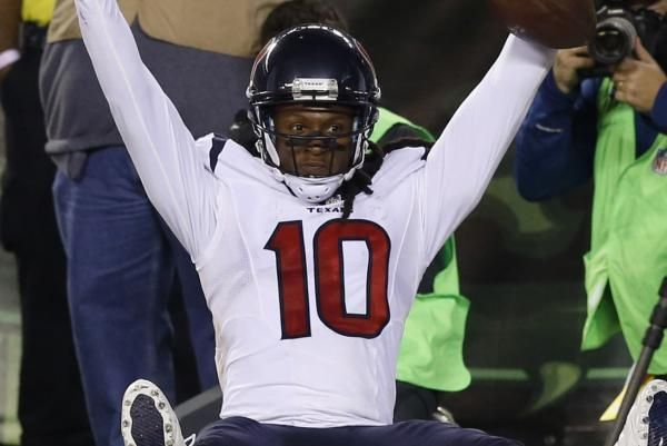 Houston Texans' DeAndre Hopkins to sport domestic violence cleats -11/30/16 http://www.upi.com/Sports_News/NFL/2016/11/30/Houston-Texans-DeAndre-Hopkins-to-sport-domestic-violence-cleats/5591480531590/