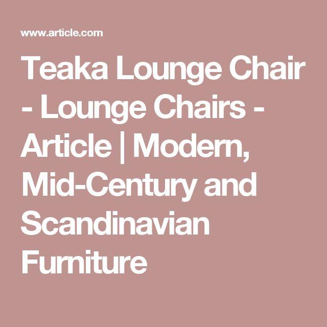 Teaka Lounge Chair - Lounge Chairs - Article | Modern, Mid-Century and Scandinavian Furniture