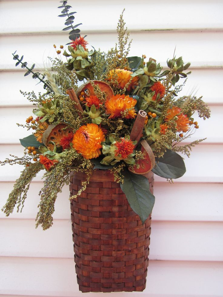31 best images about dried arrangements on pinterest floral arrangements burlap bags and vase - Best dried flower arrangements a colorful winter ...