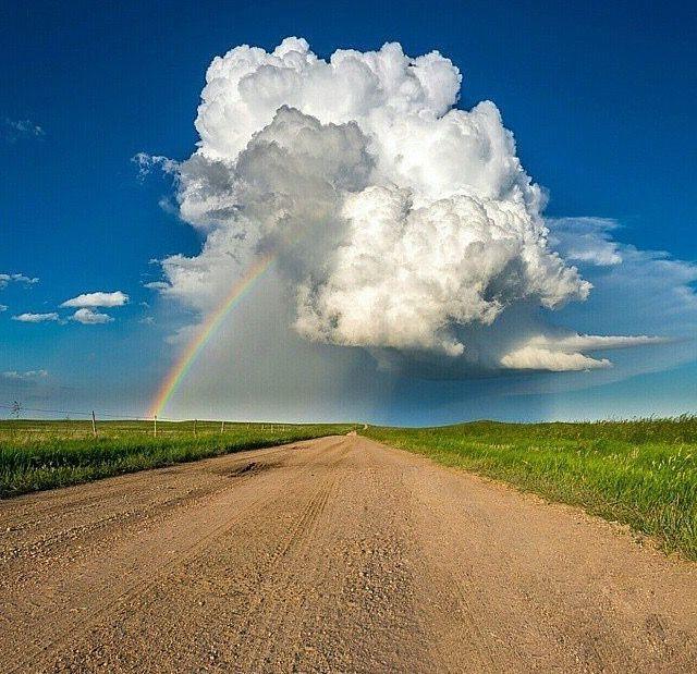 rainbow & cloud