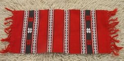 Typical Romanian table runner in the folk style.