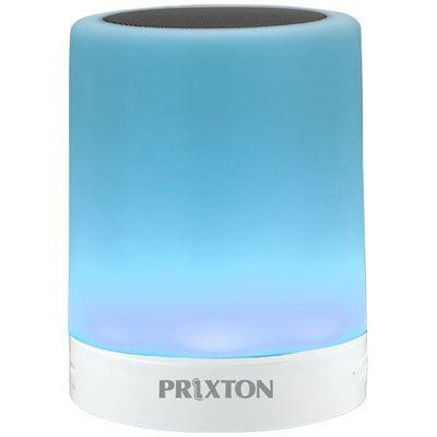 Difuzor #promotional portabil #Prixton cu Bluetooth si LED adaptabil in functie de muzica. Boxa se conecteaza la dispozitivul mobil prin Bluetooth. Durata de redare: 2 ore. Baterie: 500mAh Lithium-ion. Difuzor: 3W. LED multicolor. Dispune de slot micro SD, port USB si AUX, si poate fi #personalizat la comanda pentru a deveni un instrument de #promovare in randul clientilor sau angajatilor pasionati de #muzica.