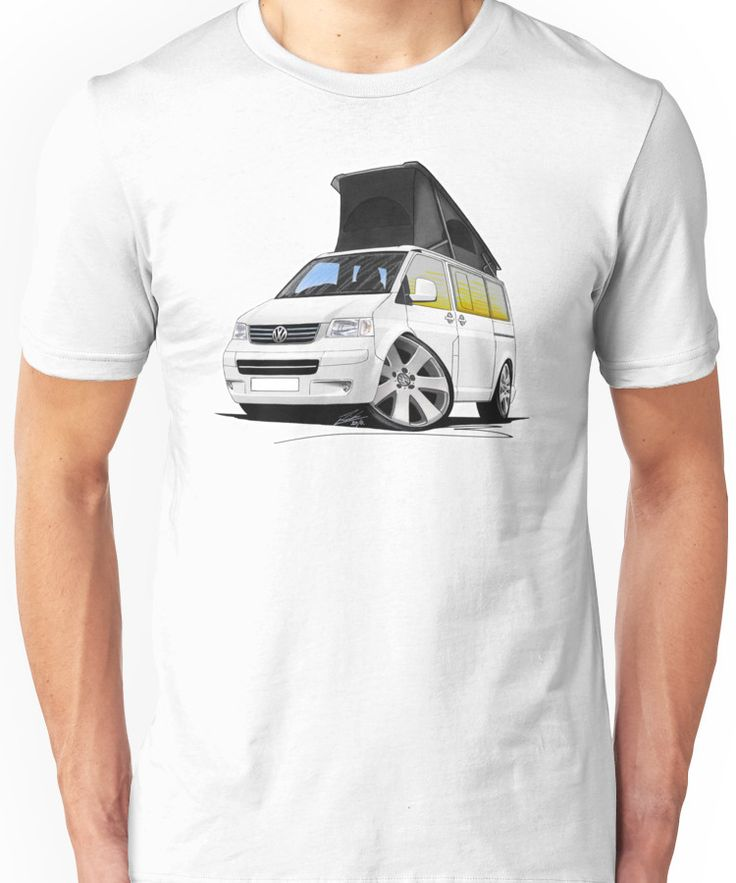 VW T5 California Camper Van White Unisex T-Shirt