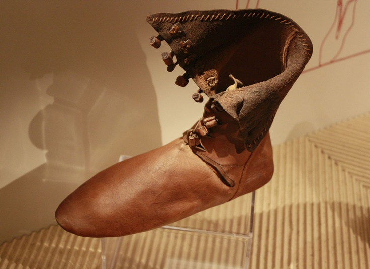 Medieval 1300 shoe. ?? provenance