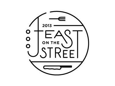 Feast On The Street /voor laanfeest , geweldig logo!!!