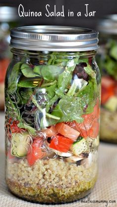 Best Recipes in A Jar - Quinoa Salad In A Jar - DIY Mason Jar Gifts, Cookie Recipes and Desserts, Canning Ideas, Overnight Oatmeal, How To Make Mason Jar Salad, Healthy Recipes and Printable Labels http://diyjoy.com/best-recipes-in-a-jar