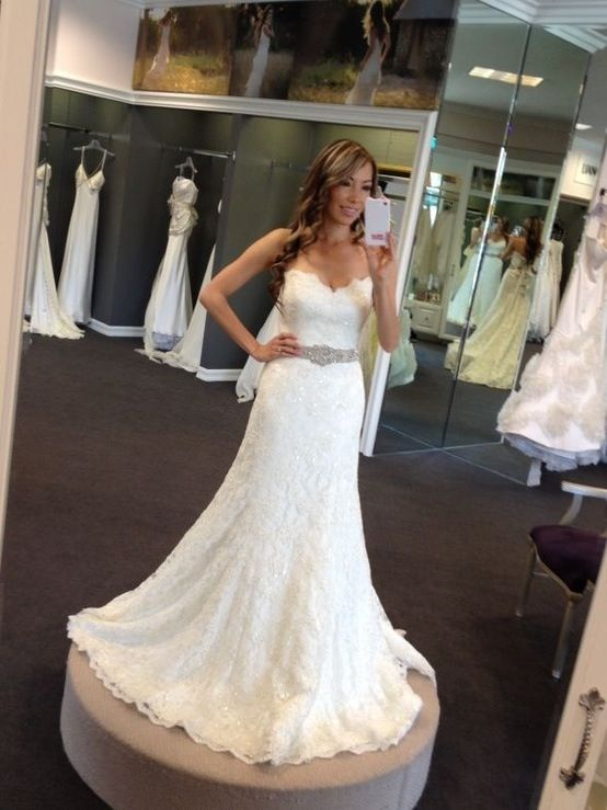 Sexy Beaded Mermaid Bridal Gown Wedding Dress Custom Size 4 6 8 10 12 14 16 18+