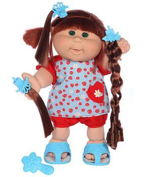 Cute cabbage patch kid: you can even re design her hair <3