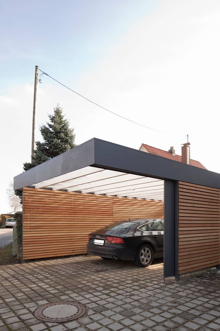 Best 25 modern garage ideas on pinterest modern garage for Carport garage designs