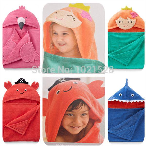 Carters-baby-boy-jongen-katoen-schattige-haai-flamingo-zeemeermin-kostuum-hooded-baby-dekens-badstof-katoen-badhanddoek.jpg (600×600)