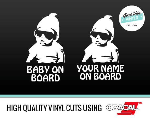 Baby on Board  Carlos Hangover Funny Car Decal Vinyl Sticker