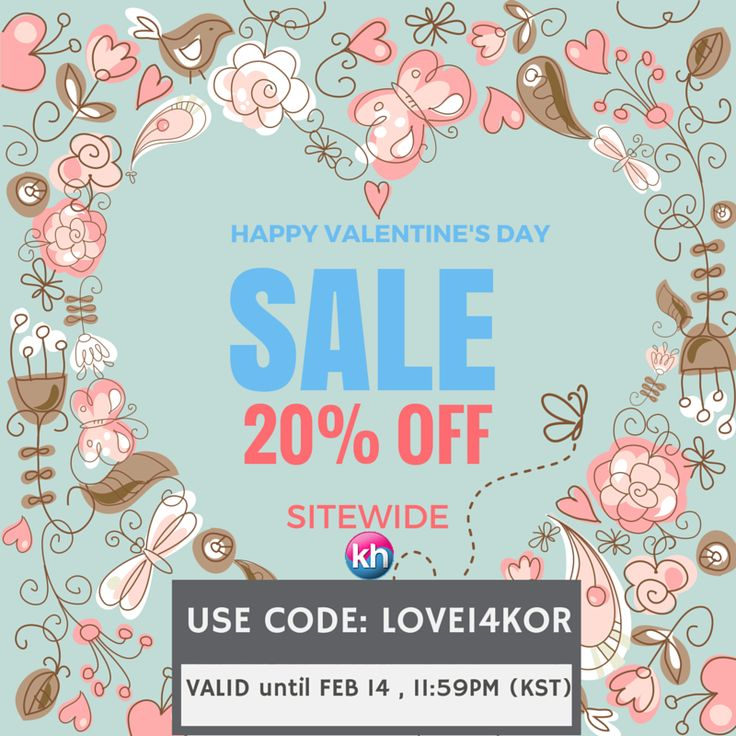 Sharing The Love ~ For Our Beloved Fans! Until February 14th use code LOVE14KOR for a special discount on ALLproducts! SHOP NOW