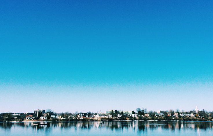 #peterborough #blueskies #horizon #photography #reflections #spring