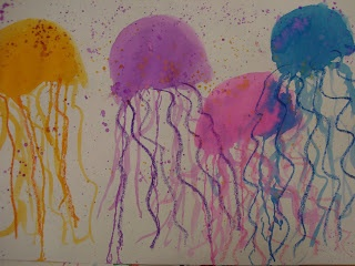 Art - Water color jelly fish