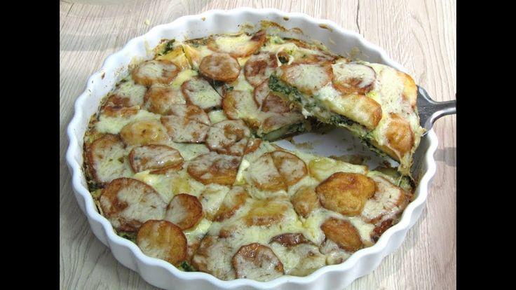 أكلة في 10 دقائق فطيرة بطاطس بخلطة سبانخ اللذييذة سيحبها أطفالك عشاء بسيط