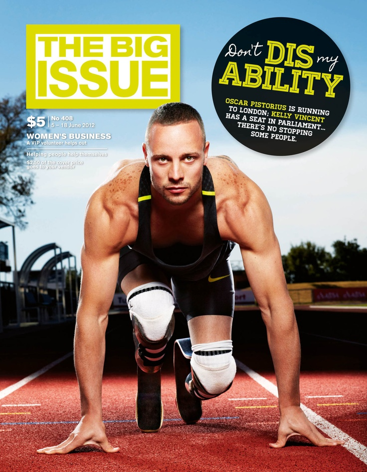Check out Oscar Pistorius on the June cover of The Big Issue in Australia  Oscar Pistorius by Harry Borden/ Contour by Getty Images