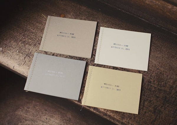 .: Wall Colors, Hands Stamps, Wedding Invitations, Colors Schemes, Sewn Booklet, Wedding Program, Ceremony Program, Hands Sewn, Invitations Pap