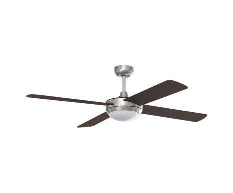 Futura 132cm Fan And Light In Brushed Chrome With Wengee Blades,Fans,Beacon Lighting