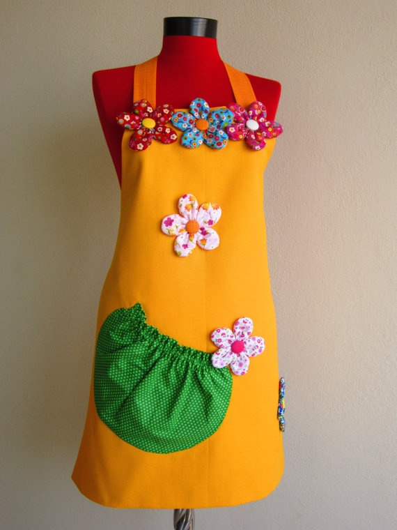 Shef Cap oven glove & Apron used doublesided apron by rengarenk, $40.00
