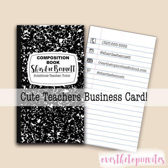 best 25  teacher business cards ideas on pinterest