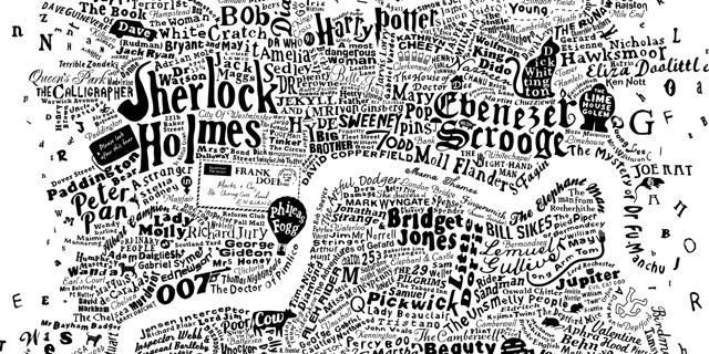 Literary map of London by Anna Burles and  Dax  :-D it is possible to buy it on runforthehills.bigcartel.com