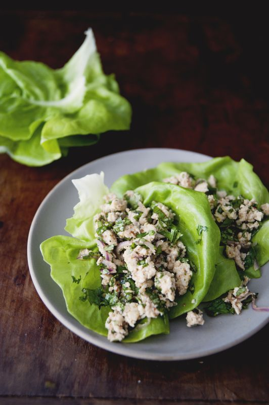 Minced Thai Chicken Lettuce Cups #recipes #thai #cooking