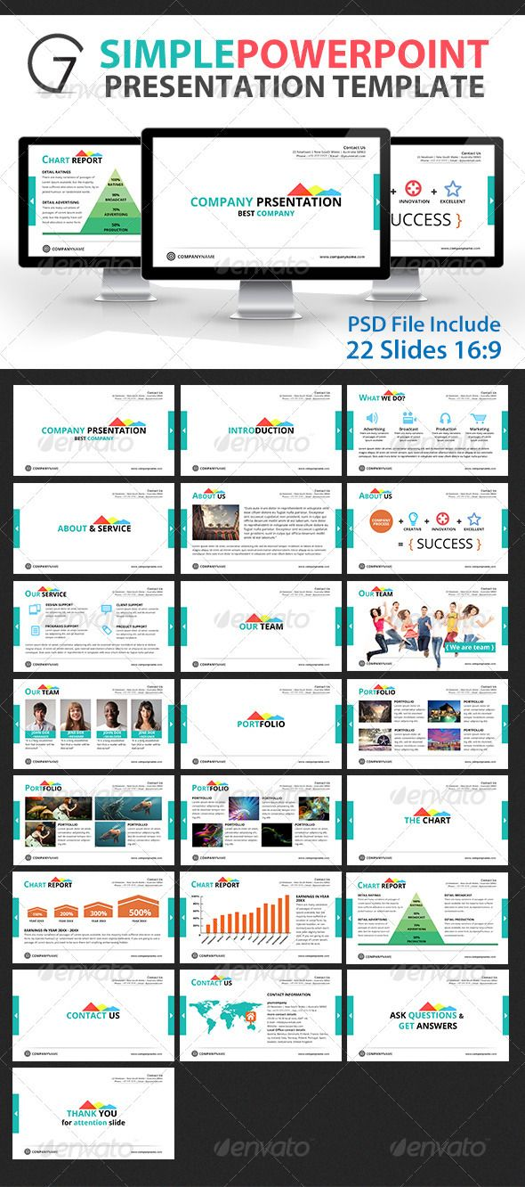 Gstudio Simple Powerpoint Presentation Template