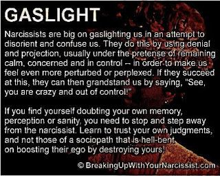 Narcissistic Personality Disorder. Trust your own intuition, don't let fear and confusion trap you.