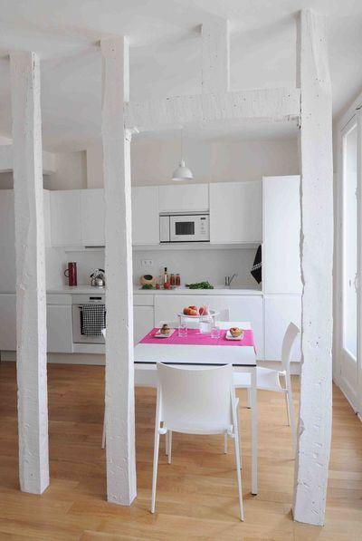optez pour lindmodable cuisine blanche - Galeere Kche Einbauleuchten Platzierung