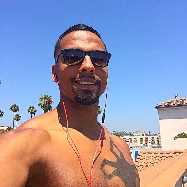 Christian Keyes at the beach