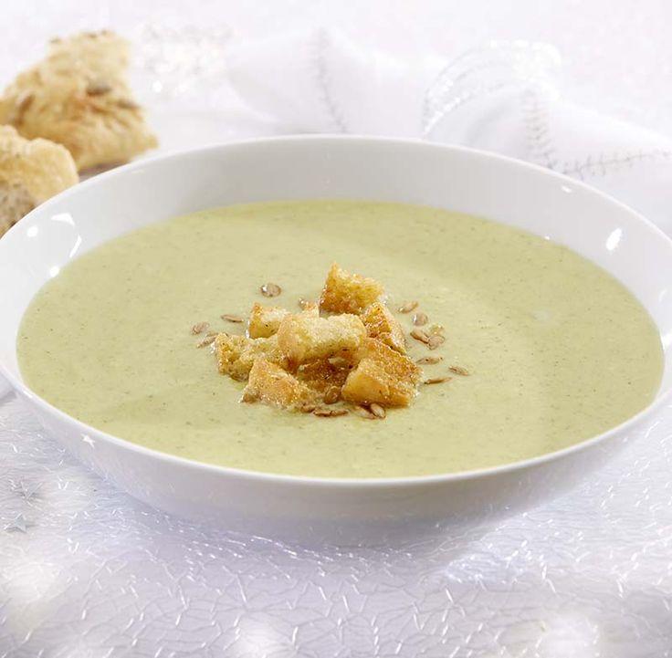 Broccolisoep met paprikacroutons en zonnebloempitjes - Colruyt Culinair !