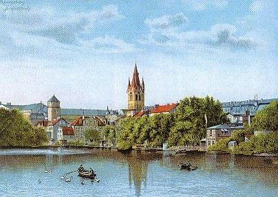 Königsberg - Вид в том же направлении в 1880 г.