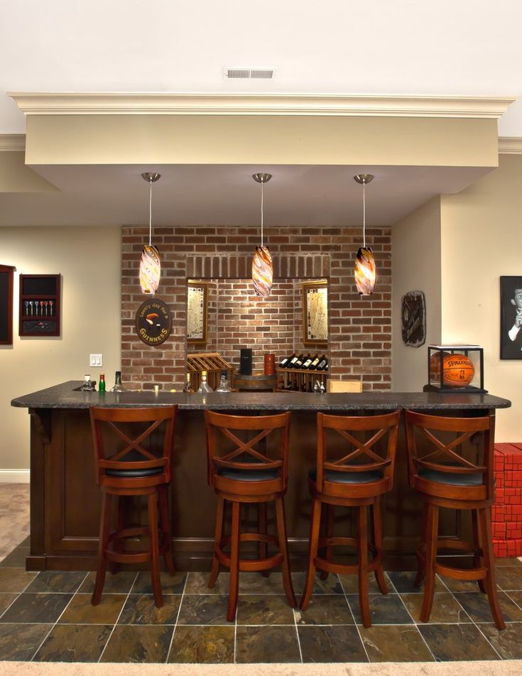 Oakley Home Builders Basement Bar Love the
