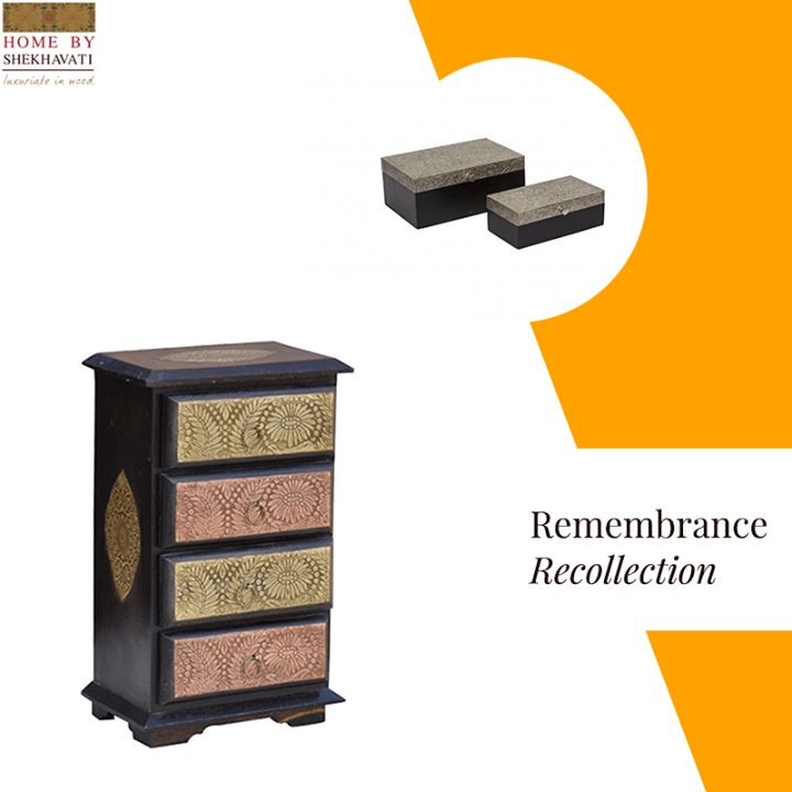Jewelry are women's best friend. It escalates their glamor and make them look beautiful. This jewelry cabinet from Home By Shekhavati is there to keep all your such possession with love and care. It comes with four drawers with a smooth top giving an ample space to keep all your cherished heirloom and jewels. To buy, visit: http://bit.ly/JewleryCabinet_HBS