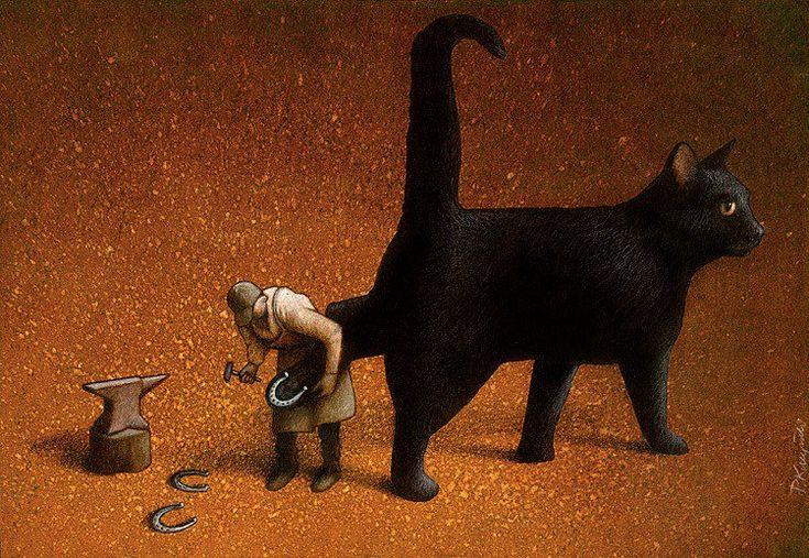 Pawel Kuczynski es un ilustrador nacido en Szczecin, Polonia. Se graduó en Bellas Artes por la universidad de Poznan, especializándose en estilo gráfico. A sus 36 años ha ganado 92 premios tanto nacionales como internaciones, en