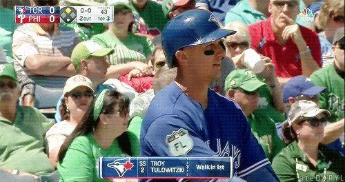 03/17/2017: Toronto Blue Jays @ Philadelphia PhilliesLadies and gents, Tulo is heating up.  (Source: MLB.TV)  Toronto Blue Jays, Blue Jays, baseball, ateDARYL, Troy Tulowitzki, Tulo