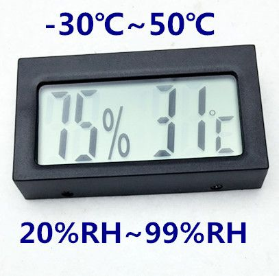 100pcs by DHL FEDEX big screen Electronic Thermometer Hygrometer Temperature Humidity Meter Weather Station Indoor OutdoorTester