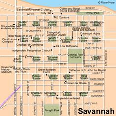 Savannah Map -11 Top-Rated Tourist Attractions in Savannah